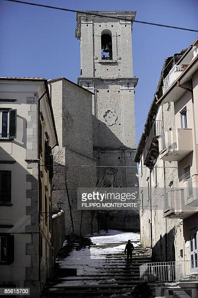 View of the in the central Italian village of Agnone where the Pontificia Fonderia Marinelli is located on the Appenine hills of Molise region on...