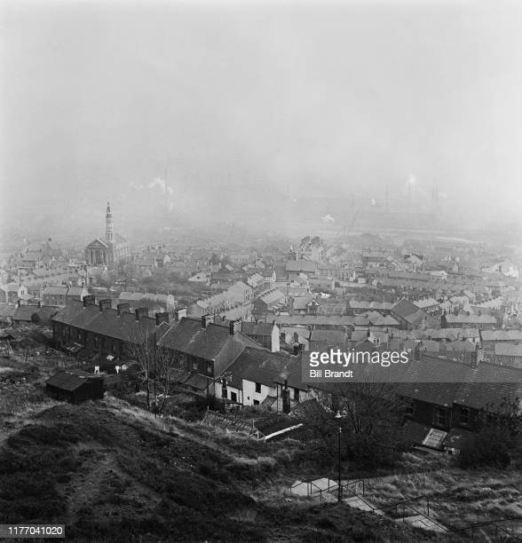 A view of the industrialised Swansea Valley in South Wales 1943 Original Publication Picture Post story 1448 The Story of the Swansea Valley pub 1st...