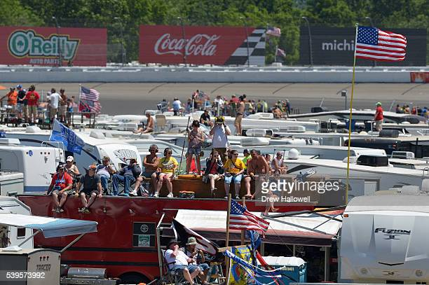 A view of the infield during the NASCAR Sprint Cup Series FireKeepers Casino 400 at Michigan International Speedway on June 12 2016 in Brooklyn...