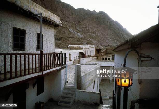 View of the inner courtyard of Saint Catherine's Monastery 6th century Sinai Peninsula Egypt
