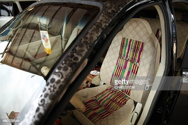 A view of the inside of a Kantanka car at the Apostle Safo Technology Research Centre in Gomoa Mpota Ghana on February 12 2014 From wooden TVs and...