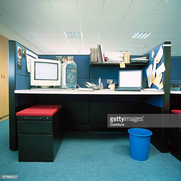 view of the inside of an office cubicle