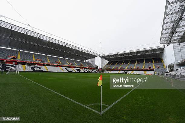 A view of the inside of Stade BollaertDelelis on February 2 2016 in Lens France