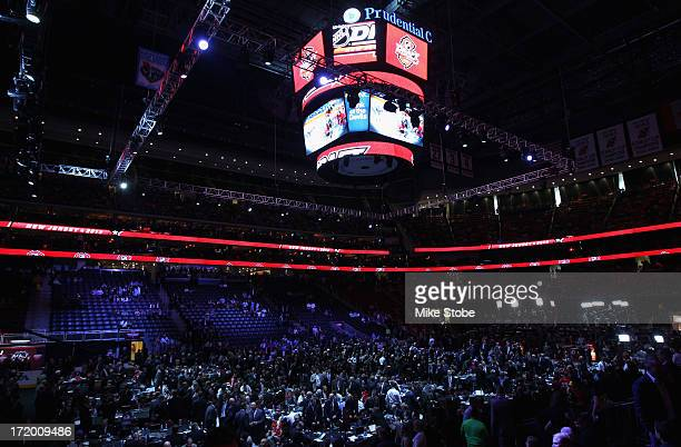 A view of the inside of the arena during the 2013 NHL Draft at the Prudential Center on June 30 2013 in Newark New Jersey