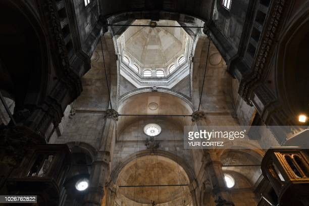 View of the inside of the church of Saint Michael in the town of Sibenik located in the central area of the Dalmatia region Croatia on September 4...
