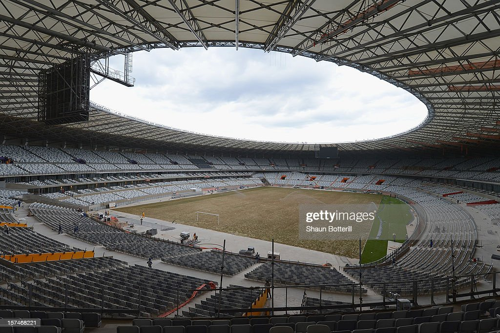A view of the inside of the Mineirao Stadium, venue for the 2014 FIFA World Cup on December 3, 2012 in Belo Horizonte, Brazil.
