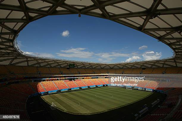 A view of the inside of the stadium Arena Amazonia on June 12 2014 in Manaus Brazil England play Italy in their group opening match on Saturday 14th...