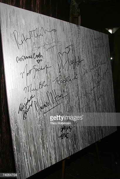 A view of the Inspiration Canvas created by David Ellis and signed by Robert De Niro at The Montblanc De La Culture Award awards presented to Wynton...