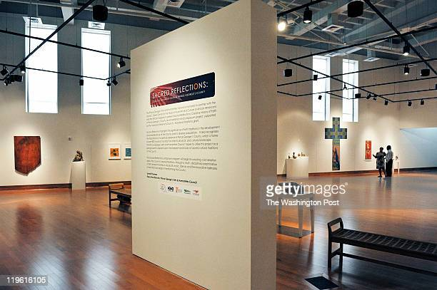 A view of the installations at the David C Driskell Center at the Univesity of Maryland where local sculptor Adjua Williams has one of her pieces on...