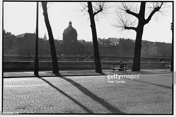 View of the Institut de France Across the Seine River