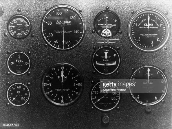 View of the instrument panel of the aircraft SPIRIT OF SAINT