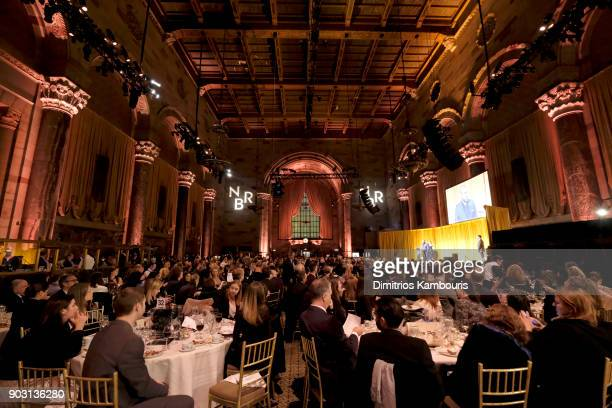 A view of the interior as guests enjoy dinner during the National Board of Review Annual Awards Gala at Cipriani 42nd Street on January 9 2018 in New...