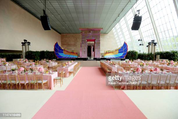 A view of the interior at The 2019 Met Gala Celebrating Camp Notes on Fashion at Metropolitan Museum of Art on May 06 2019 in New York City