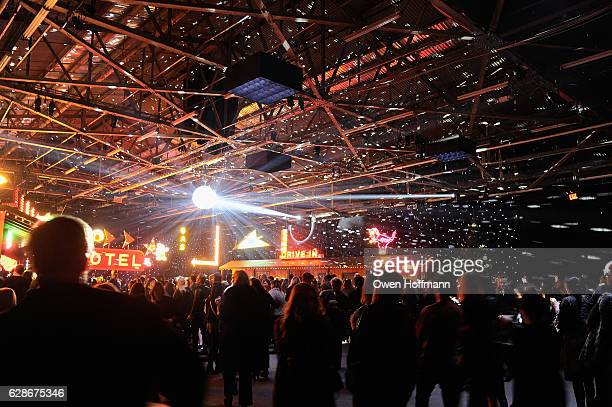 A view of the interior atmosphere at the Coach 75th Anniversary Party on December 8 2016 in New York City