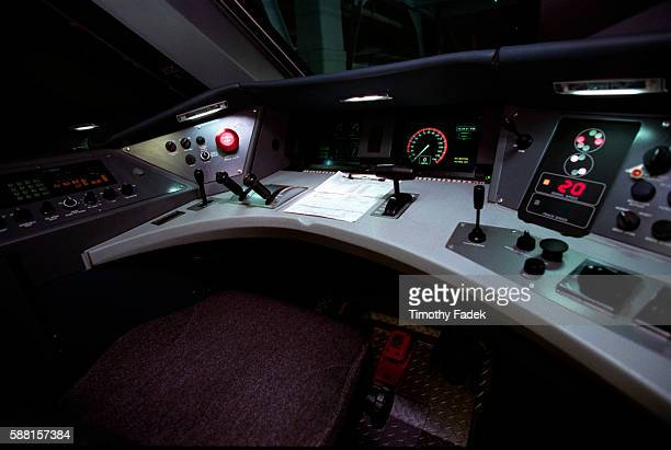 View of the interior controls for the Acela Express