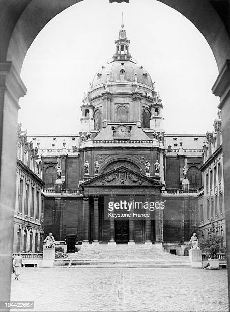 View Of The Interior Courtyard Leading Up To The Chapel Of The Sorbonne University Under The Orders Of Cardinal Richelieu Elected Head Of The...