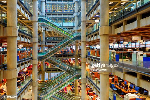A view of the interior of Lloyd's of London an insurance and reinsurance market on September 23 2019 in LondonEngland