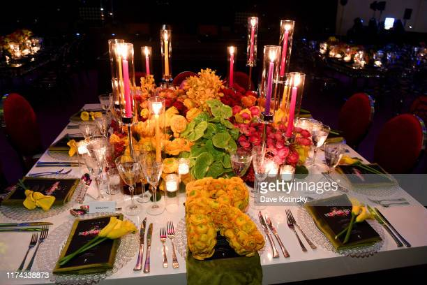 A view of the interior of Rihanna's 5th Annual Diamond Ball Benefitting The Clara Lionel Foundation at Cipriani Wall Street on September 12 2019 in...