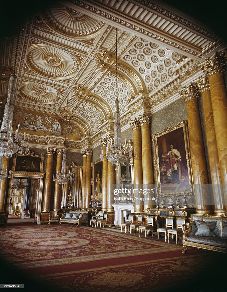 Perfect View Of The Interior Of The Blue Drawing Room Designed By The Architect  John Nash And