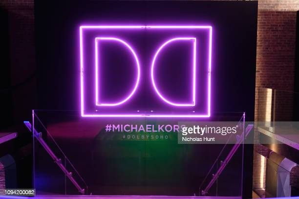A view of the interior of the event space during the Jump Into Spring MICHAEL Michael Kors Spring 2019 Launch Party at Dolby Soho on February 5 2019...