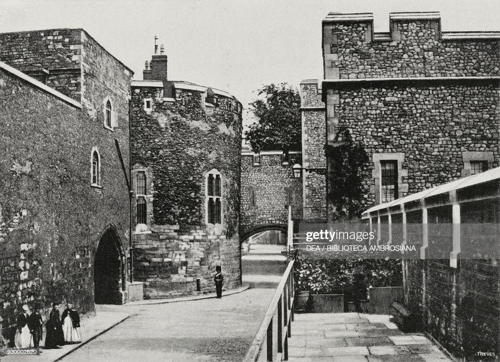 View of Interior of Tower of London : News Photo