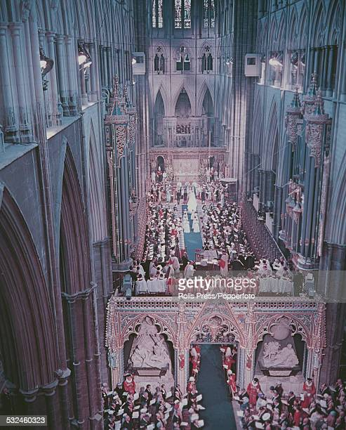 View of the interior of Westminster Abbey during the wedding ceremony of Princess Margaret to Antony ArmstrongJones in London on 6th May 1960