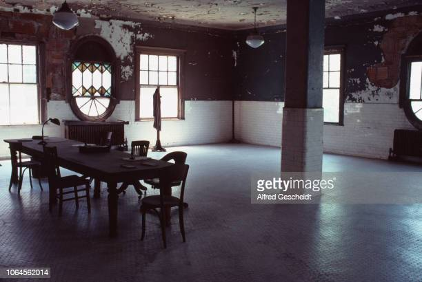 View of the interiors on an apartment Ellis Island Upper New York Bay US 1991