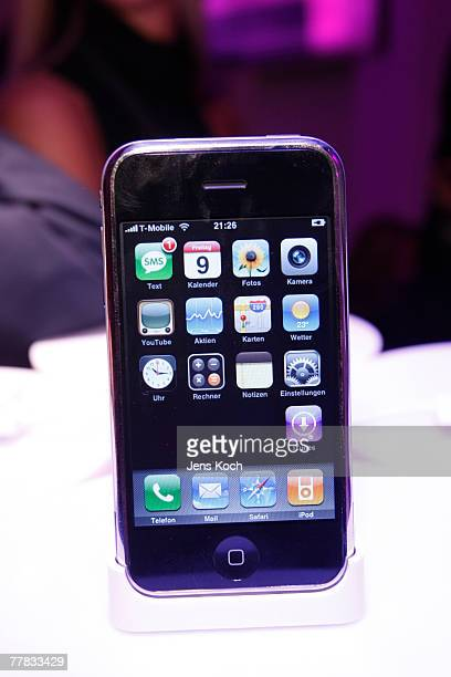 A view of the iPhone at the iPhone Launch Party at the RheinTriadem November 9 2007 in Cologne Germany