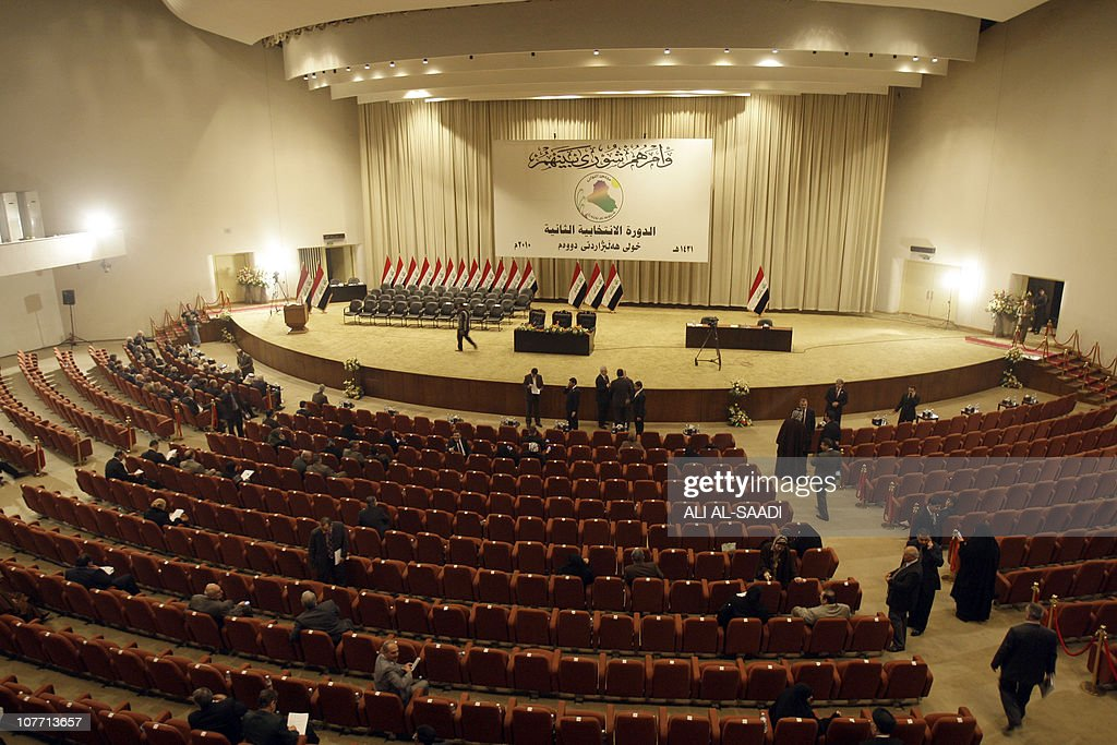 A view of the Iraqi parliament floor on : Nieuwsfoto's