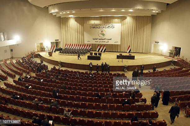 A view of the Iraqi parliament floor on December 21 in Baghdad AFP PHOTO/ALI ALSAADI