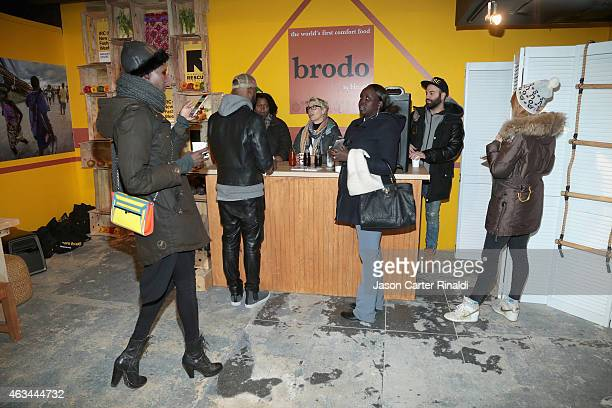 A view of the IRC Fashion Week PopUp and Photo Exhibition at Empire Hotel on February 14 2015 in New York City
