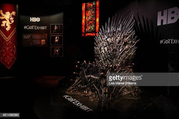 A view of the 'Iron Throne' is seen at the launch of the Game Of Thrones Exhibition at the Museum of Contemporary Art on June 30 2014 in Sydney...