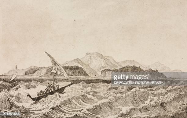 View of the island of Palau Polynesia engraving by De Rienzi and Mercier from Oceanie ou Cinquieme partie du Monde Revue Geographique et...