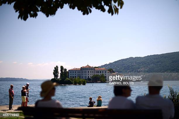 View of the Isola Bella at Lake Maggiore taken near Stresa on August 18, 2014. The Isola Bella is one of the Borromean Islands and is situated in the...