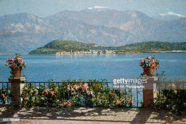 View of the Isola Bella Italy by Angelo Morbelli