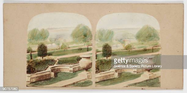 View of the Italian Flower Garden ' c 1880 A collection of photographs equipment and printed material tracing the history of photography assembled by...