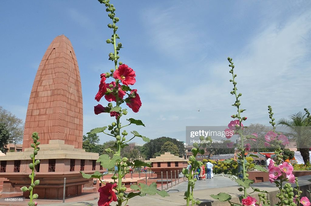 A view of the Jallianwala Bagh Memorial on the eve of 95th anniversary of Jallianwala Bagh massacre at Jallianwala Bagh on April 12 2014 in Amritsar..