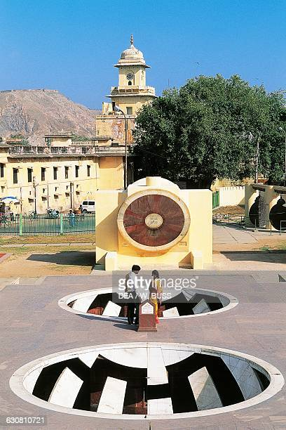 View of the Jantar Mantar astronomical observatory built by Raja Jai Singh II between 1727 and 1734 Jaipur Rajasthan India 18th century