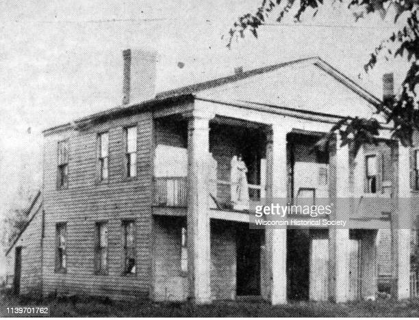 View of the JD Doty office Green Bay Wisconsin 1880 Doty served as agent for John Jacob Astor in promoting the village of Astor later renamed Green...