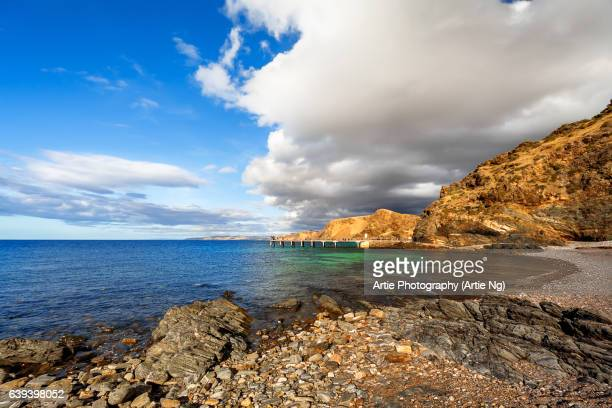 View of the Jetty and Rugged Coastline of Second Valley, Fleurieu Peninsula, South Australia