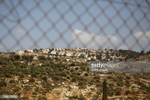 View of the Jewish settlement of Elon Moreh after the Israeli government approved the construction of 1,350 Israeli Jewish settlement units in the...