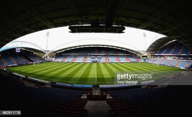 A view of the John Smith's Stadium home of Huddersfield Town before the Sky Bet Championship match between Huddersfield Town and Burton Albion at the...