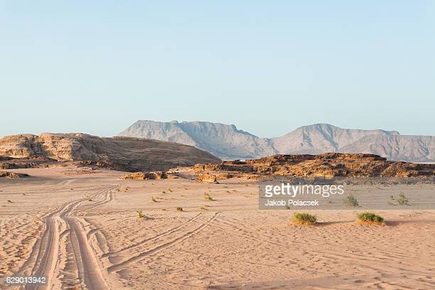 view of the jordan desert - sahara stock pictures, royalty-free photos & images