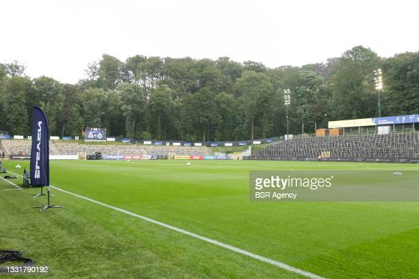 View of the Joseph Marienstadion during the Jupiler Pro League match between Union Saint Gilloise and Club Brugge at Joseph Marien Stadion on August...