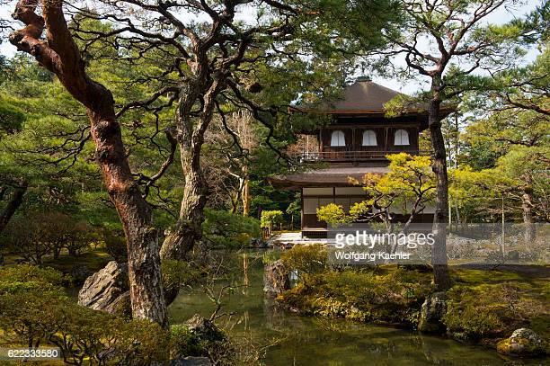 View of the Kannonden or Silver Pavilion at the Ginkakuji or Temple of the Silver Pavilion a Zen temple in the Sakyo ward of Kyoto Japan
