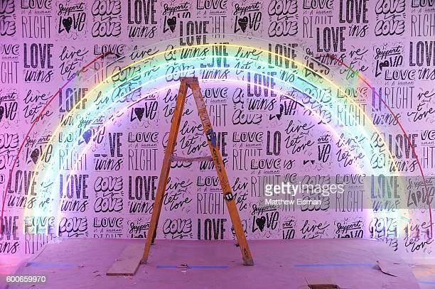 A view of the Kate Moross 'Show Your Pride' room at Refinery29's second annual '29Rooms' during New York Fashion Week on September 8 2016 in Brooklyn...