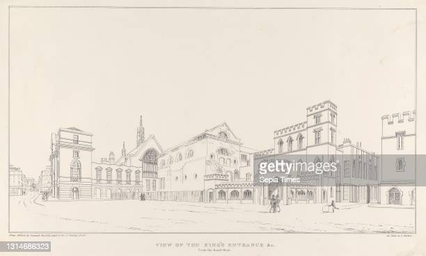 View of the King's Entrance &c. From the South-West, Print made by Charles Burton, active 1830–1840, after Samuel Russell, active 1849 Lithograph on...