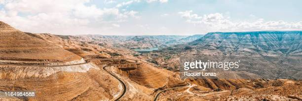 view of the king's highway in jordan - jordan middle east stock pictures, royalty-free photos & images
