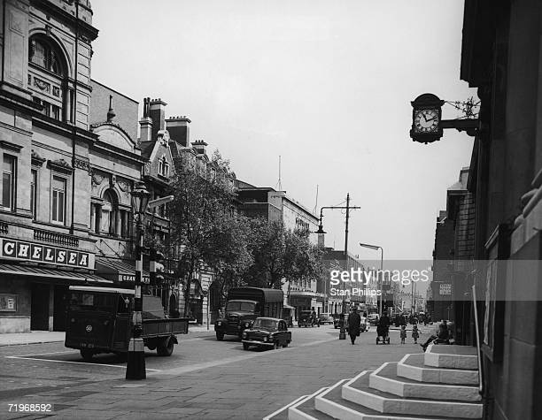 A view of the Kings Road Chelsea London June 1958