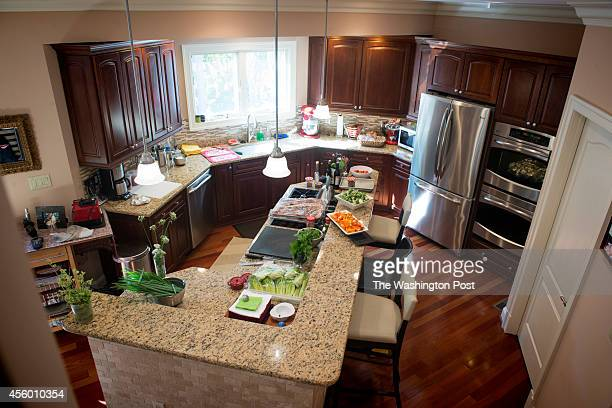 A view of the kitchen in the home of Greta De Keyser and Bart Vandaele's in Alexandria Virginia on September 06 2014